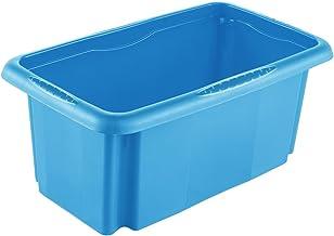 keeeper pudełko do przechowywania z systemem obrotowym/układanym w stos, 35 x 20,5 x 15 cm, 7 l, Emil, niebieskie