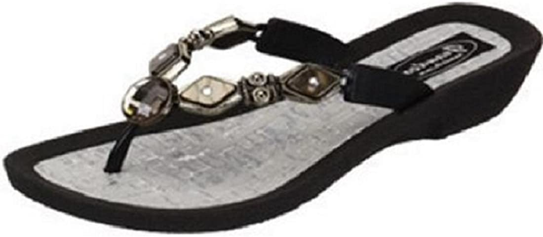 Grandco Womens Diamond Reservation Pearl Thong Style Sandal Max 62% OFF