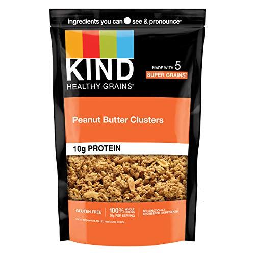 KIND Healthy Grains Clusters, Peanut Butter Whole Grain Granola, 10g Protein, Gluten Free, Non GMO, 11 Ounce