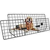 Dog Car Barrier for SUVs, Van, Vehicles - Adjustable Large Pet SUV Barriers Universal-Fit, Heavy-Duty Wire Mesh Dog Car Guard, SUV Pet Car Gate for Vehicles, Safety Car Divider for Dogs, Smooth Design