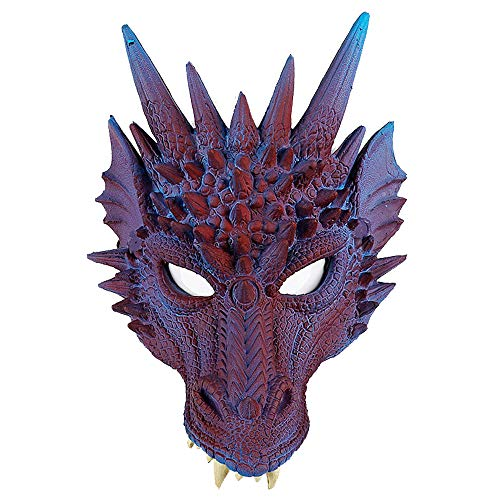 Halloween Dragon Mask Unisex Cosplay Party Costume Purple