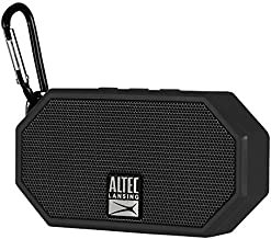 Altec Lansing IMW257-BLK Mini H2O Wireless Bluetooth Waterproof Speaker, Floating IP67 Waterproof, Boat, Hiking, Golf Cart, ATV, Utv, Lightweight, 6-Hour Battery Life, Black