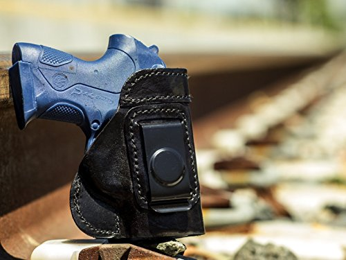 OutBags USA LS6PX4C (BLACK-RIGHT) Full Grain Heavy Leather IWB Conceal Carry Gun Holster for Beretta PX4 Storm Sub-Compact 9mm and .40 S&W. Handcrafted in USA.