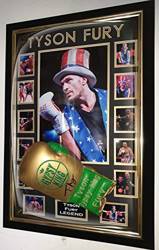 www.signedmemorabiliashop.co.uk Tyson Fury Unterschriebener Boxhandschuh *AFTAL DELAER Certificate*