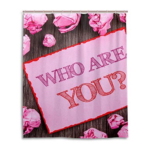 JSTEL Decor Who are You Rideau de Douche 100% Polyester Motif Floral 152 x 183 cm