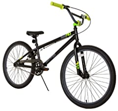 """Boys 24"""""""" BMX Freestyle bike with Tony Hawk finish and graphics Promax alloy rear U-brakes Alloy threaded handlebar stem for strength and functionality Saddle seat with adjustable alloy clamp Lifetime on frame and fork Bike Dimensions 7. 25"""""""" x 24. 5..."""