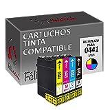 4X Cartucho de Tinta Compatible para Epson Stylus T0441/2/3/4 20ml Color T17 Felixmania®