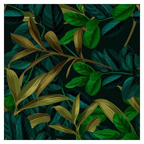 murando Tapete selbstklebend 10m Wandtattoo dekorative Möbelfolie Dekorfolie Fotofolie Panel Wandaufkleber Wandposter Wandsticker - Blätter Natur b-B-0277-j-a