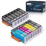 OfficeWorld Ersatz für Canon PGI-550 CLI-551 Druckerpatronen PGI-550XL CLI-551XL Hohe Kapazität Kompatibel für Canon Pixma MX925 iP7250 MG5550 MG5650 MX725 iX6850 MX920 MG6650 MG6450 MG5450 iP7200