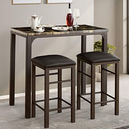 pub table and bar stools - 6