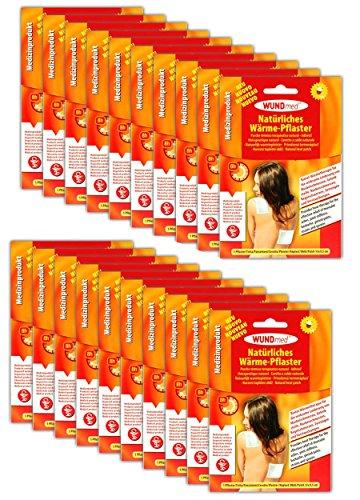20 Stück Natürliche Wärmepflaster Rückenpflaster Schmerzpflaster Rücken Nacken