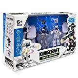 Pack of 2,Battle Robot Toys by Super Francisco - 2.4GHz Remote Control Boxing Robots with Amazing Light and Sound Effects - Build Family Bond - Master Visual Motor Skills