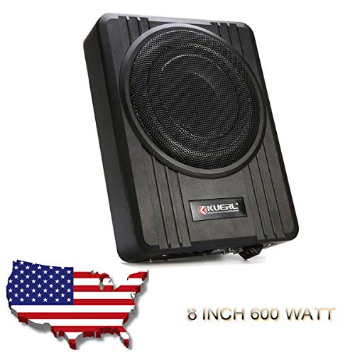 Absir 10 inch Car Slim Active Audio Subwoofer Under Seat Power Supper Bass Sub Box 600W