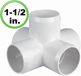 FORMUFIT F1123WE-BK-4 1-1//2 Furniture Grade 3-Way Elbow in Black PVC 1.9 ID Pack of 4