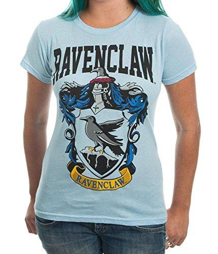 ThinkGeek Harry Potter Ravenclaw House Juniors Blue T-Shirt Licensed (XL)