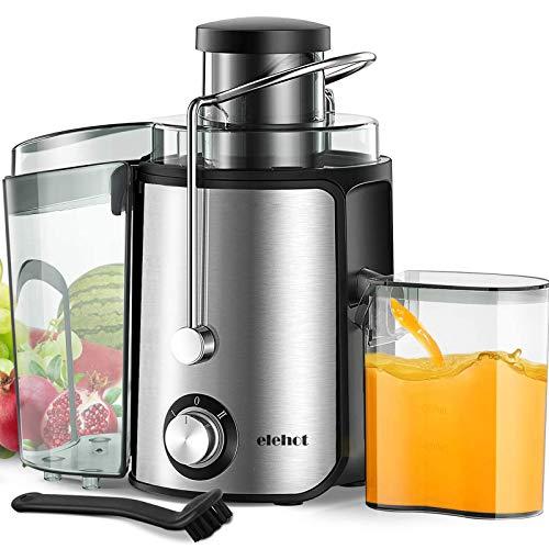 Centrifuga Frutta e Verdura Professionale Due Velocità Separatore Polpa Automatico Leva di Sicurezza Acciaio Inox BPA Free di ELEHOT