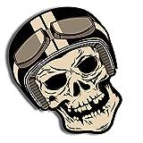 Skino 2 x Auto-Adhésif Autocollants Stickers Vinyle Tête de Mort Skull Crâne...