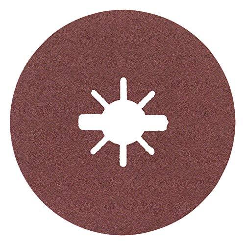 Bosch Professional Fiberschleifscheiben Expert (für Metall, X-LOCK, R444, Ø125 mm, Körnung 120, BohrungsØ: 22,23 mm)