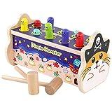 Giocattolo da banca martellato in legno, simpatico gophers con malletto, giocattolo educativo per bambini