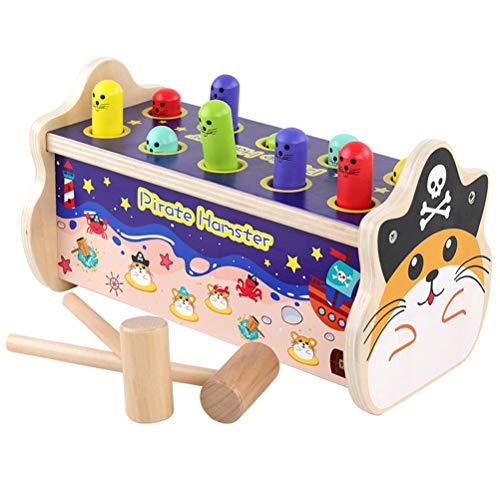 Linda Banco madera juguete gato palpitación Mazo