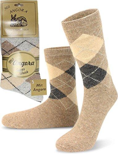 Unbekannt Original Wowerat 4/Pairs of super soft Norwegian Socks Woollen Prewashed Premium Quality Multi-Coloured Naturt/öne Size:43-46