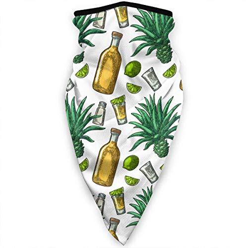 Mathillda Tequila zout citroen gezichtsmasker hals gamassen bandana sjaal bivakmuts multifunctionele hoofddeksel voor outdoor-sporten