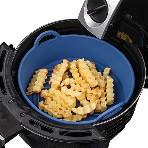 An image of the Webake Air Fryer Accessory Basket Silicone Pot ∅20.5cm Replacement for Paper Liners, Fits 4QT or Bigger Air Fryers
