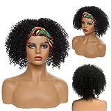 Headband Wigs Kinky Curly Black Wig Short...