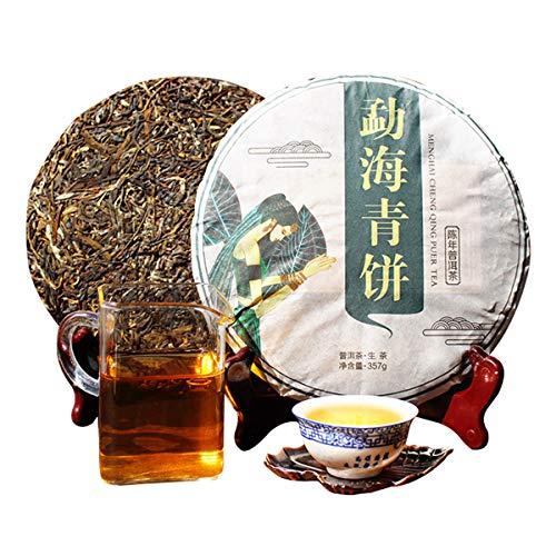 357g (0.788LB) Pu Erh Tea Raw New Tea Puer Pu Cake Pu Erh Tè verde Tè Pu-erh Vecchi alberi Tè Pu Erh Tè cinese Tè verde Tè sano Puerh buono Sheng Cha