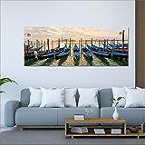 DECORARTE - Cuadros Impresión Digital - Fotografía sobre Cristal Barcas (160x60)