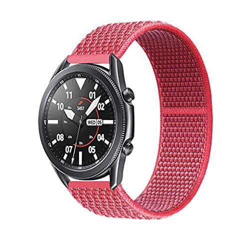 WWXFCA Correas de nailon de 22 mm para Amazfit Pace Stratos 3 2/2S Smart Watch Band pulsera tejida para Amazfit GTR 47 mm 2E (color de la correa: hibisco, tamaño: 22 mm)