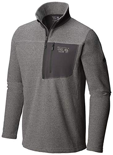 in budget affordable Mountain Hardware Toasty Twill Fleece 1/2 zip Manta Gray MD