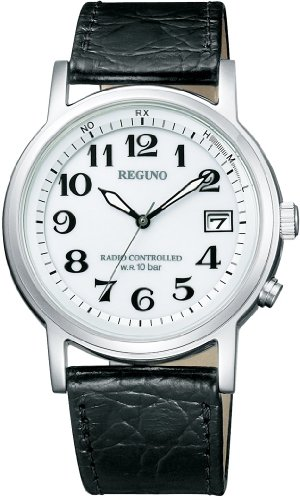 [シチズン] 腕時計 レグノ ソーラーテック 電波時計 クラシックストラップ KL7-019-10 ブラック