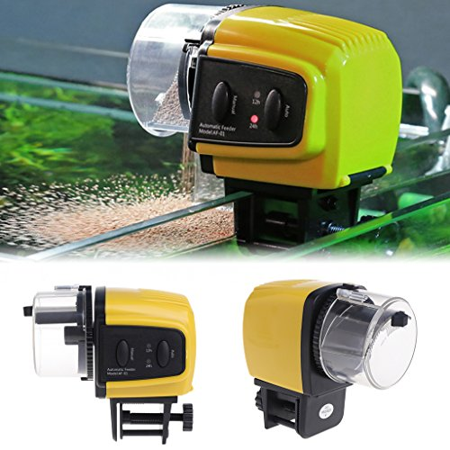 yifeict Cargador automático de peces acuario depósito 12H 24h temporizador dispensador digital para alimentos