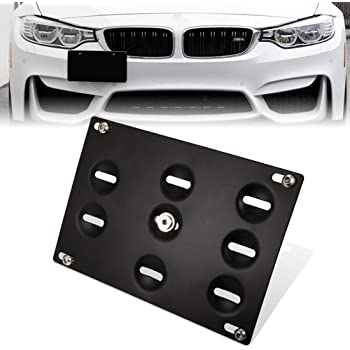 For BMW E60 5-Series M5 Tow Hook Hole Cover License Plate Bracket Mount Holder
