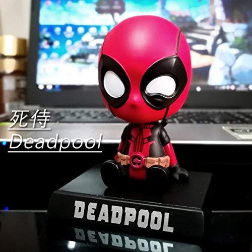 LJQLXJ Adornos Los Accesorios del Coche de Hulk Thanos mueven la Cabeza de la muñeca Modelo de Mano Accesorios del Interior del Coche Adorno del Coche para, Deadpool