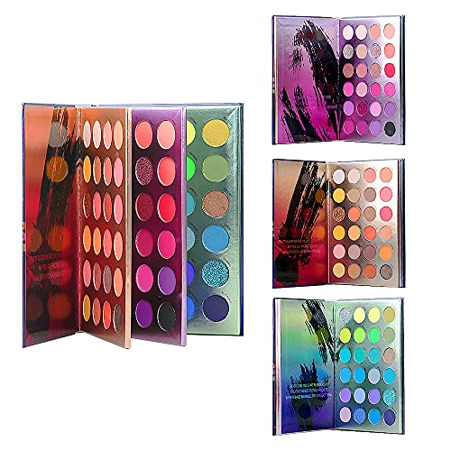 Palette di ombretti HKLANCUI 72 colori Alta pigmentazione Impermeabile Facile da sfumare Ombretto Shimmer Glitter Matte Ombretto perlescente Nude All-In-One Makeup Palette