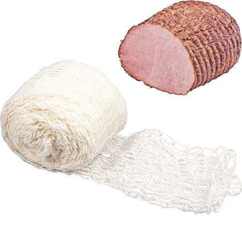 Browin 310102 Schinkennetz weiß, Fleischnetz, Elastische, Rollbraten Netz, 15 cm x 5 m bis 220°C, Stoff, White, cm, 7 x 7 x 6 cm, 1 Einheiten