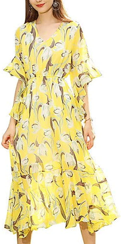 Women's Going Out Slim Sheath Dress High Waist V Neck
