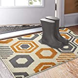 Color&Geometry Doormat, Indoor & Outdoor Entrance Mat Geometric Patterns Waterproof Front Door Mat