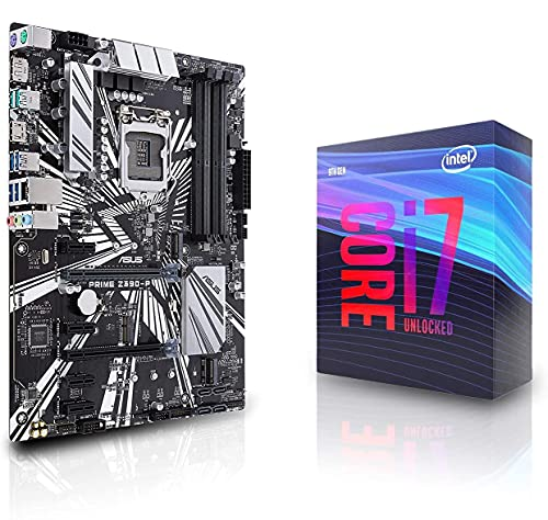 Micro Center Intel Core i7-9700K Desktop Processor 8 Cores up to 4.9 GHz Turbo Unlocked LGA 1151 300 Series 95W DDR4 Bundle with ASUS Prime Z390-P ATX Motherboard 6xPCIe Slot M.2 USB 3.1 Gen2