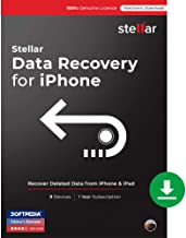 Stellar Data Recovery for iPhone Software | for Mac | Standard | Recover Deleted Photos, Videos, Contacts, Messages from Iphone & Ipad | 3 Device, 1 Yr Subscription | Instant Download (Email Delivery)