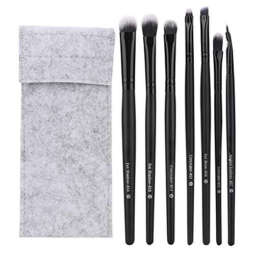 Maquillage Brush Set 7pcs Portable Cosmetic Brush Poignée Noire Ombre À Paupières Concealer Brush Set Maquillage Outil Profession