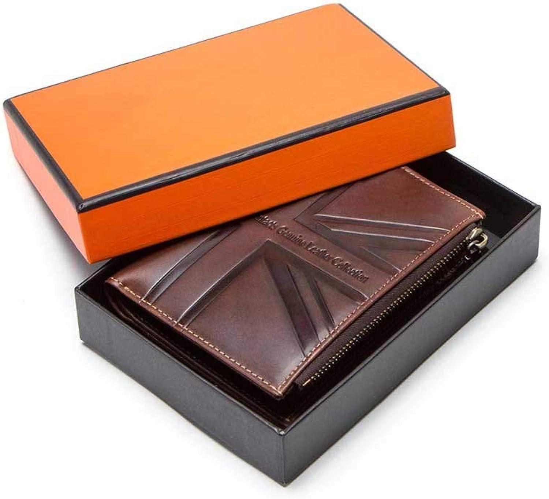 5c3d5620f93a8e ... Geldbörse Geldbörse Kartenhalter Doppel Reißverschluss  Geldbeutel Mit Kette RFID,Kaffee Box,12,5 9,5 2,5 cm B07LGWCBQZ ea411e