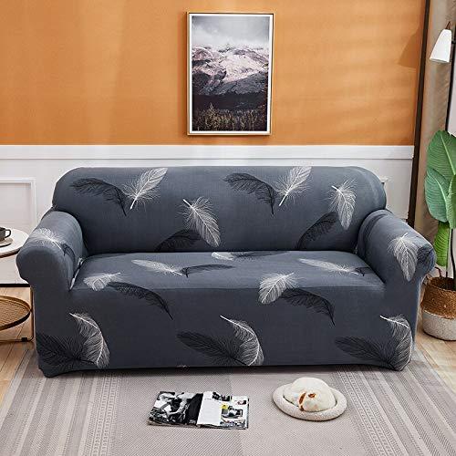 ASCV Funda de sofá elástica para Sala de Estar Funda de sofá de Licra para sofá de Esquina Funda de sillón A1 4 plazas