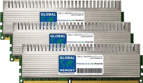 GLOBAL MEMORY 3GB (3 x 1GB) DDR3 1600/1800/2000MHz 240-PIN OVERCLOCK DIMM ARBEITSSPEICHER RAM KIT FÜR PC DESKTOPS/MAINBOARDS