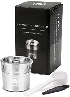 2019 Newest Refillable Coffee Filter and tamper For illy Coffee Machine Cafe Capsules Cup Metal Stainless Steel Reusable Coffee Baskets (capsuler)