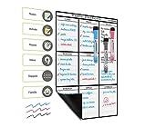 *Images en Français* Planning Semaine Format A3 Pour Frigo Par Plan Smart - Calendrier hebdomadaire Tableau Blanc Magnétique - BONUS: 3 Marquers De Qualité