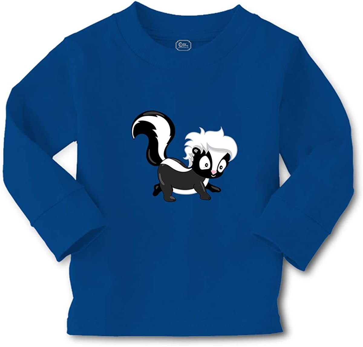 Cute Rascals Kids Long Sleeve T Shirt Skunk Cotton Boy & Girl Clothes Funny Graphic Tee