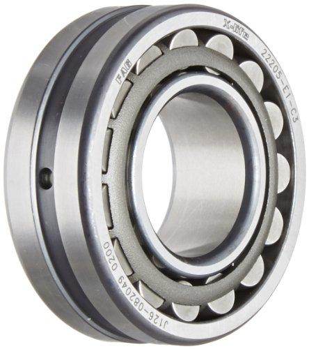 FAG 22205E1-C3 Roulement à billes à alésage droit, cage en acier, espacement C3, 25 mm, diamètre extérieur 52 mm, 18 mm